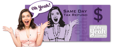 "<span class=""font2--regular""><b>Any day</b> can be a <b>pay day</b> with a <b>same day</b> tax refund!</span>"